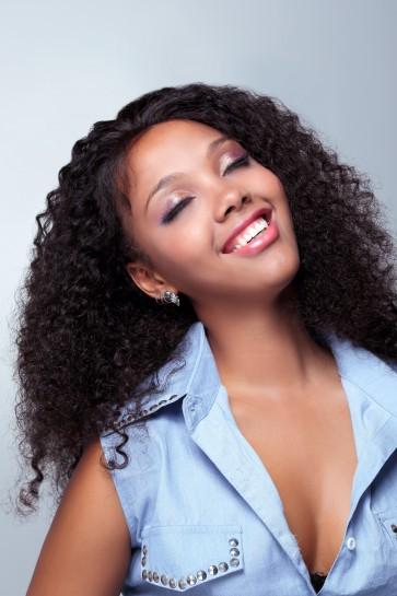 Full Lace Wigs 100% Brazilian Virgin Hair 10mm Curl
