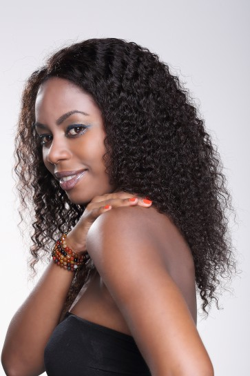 Hand-tied Whole Lace Wig Deep Wave Best Brazilian Virgin Hair