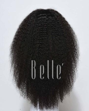 100% Real Human Hair Brazilian Virgin Hair Afro Silk Top Full Lace Wig Jeri Curl