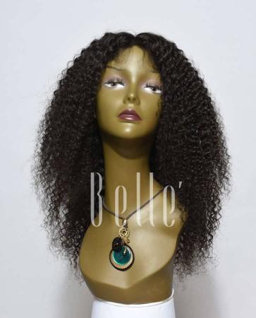 100% High Quality Human Hair Peruvian Virgin Hair Lace Front Wig Kinky Curl