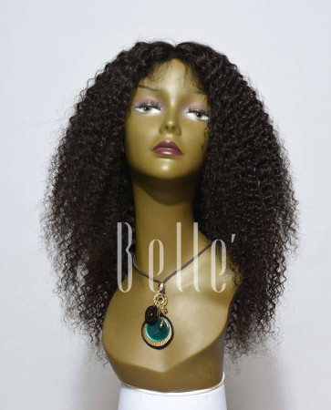 100% High Quality Human Hair Indian Virgin Hair Lace Front Wig Kinky Curl