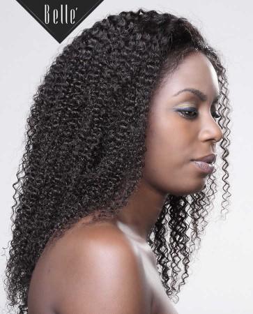 Kinky Curl 100% High Quality Human Hair Chinese Virgin Hair Silk Top Full Lace Wig