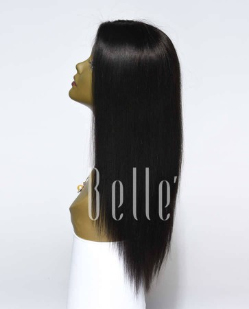 Best Seller Light Yaki 100% Premium Indian Remy Hair Silk Top Lace Front Wig