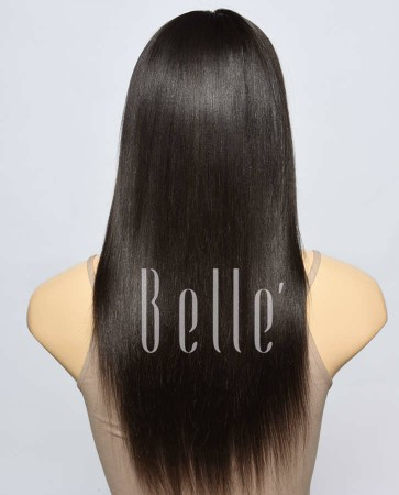 Light Yaki Most Popular Hairstyle 100% Premium Indian Virgin Hair Lace Front Wig