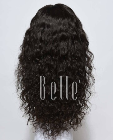 Natural Curl Top-quality Indian Remy Hair Swiss Lace Front Wig