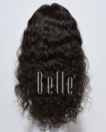 Natural Curl Top-quality 100% Unprocessed Peruvian Hair Swiss Lace Front Wig