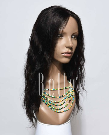 Affordable Silk Top Lace Front Wig Natural Wave Best Indian Virgin Hair No Shedding