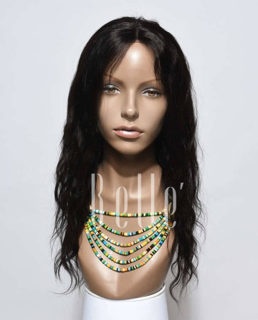Natural Wave Affordable Silk Top Lace Front Wig Best Peruvian Virgin Hair No Shedding