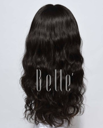 Glueless Full Lace Wigs Indian Remy Hair Natural Wave