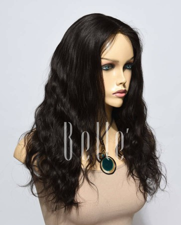 Affordable Lace Front Wig Natural Wave Best Mongolian Virgin Hair No Shedding