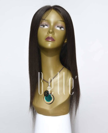 Silky Straight 100% Best Malaysian Virgin Hair Silk Top Lace Front Wig In Stock