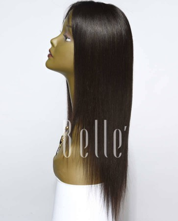 Silky Straight 100% Best Chinese Virgin Hair Lace Front Wig In Stock