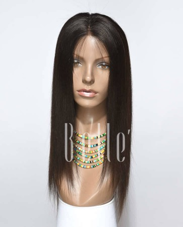 Silky Straight 100% Best Indian Remy Hair Silk Top Lace Front Wig In Stock