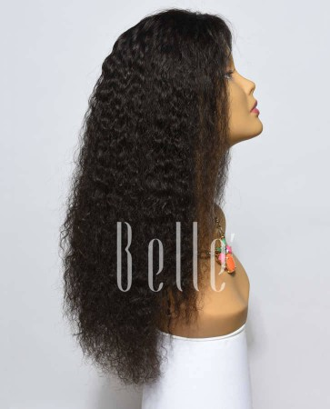 Spanish Wave Indian Virgin Hair Lace Front Wig Free Parting