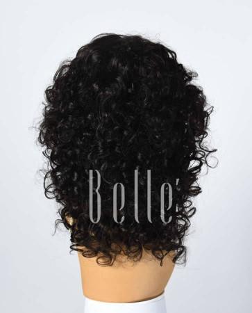 100% Premium Human Hair Brazilian Virgin Hair Silk Top Lace Front Wig Beautiful Spiral Curl