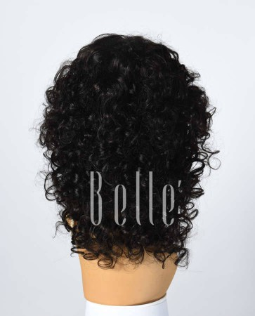 100% Premium Human Hair Indian Remy Hair Silk Top Lace Front Wig Spiral Curl