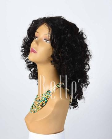 100% Premium Human Hair Peruvian Virgin Hair Lace Front Wig Spiral Curl