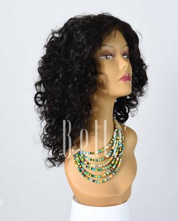 100% Premium Human Hair Indian Virgin Hair Lace Front Wig Spiral Curl