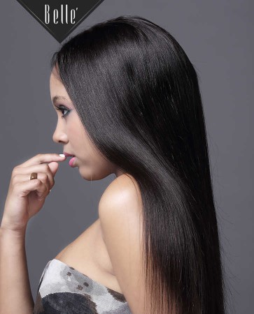 Silky Straight 100% Best Mongolian Virgin Hair Silk Top Full Lace Wig In Stock