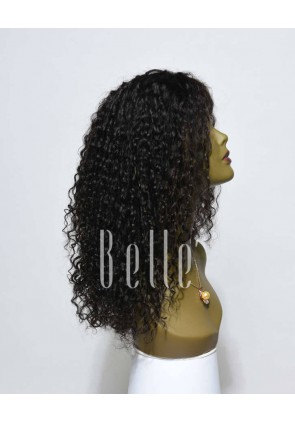 Swiss Lace Front Wigs 100% Premium Peruvian Virgin Hair 10mm Curl