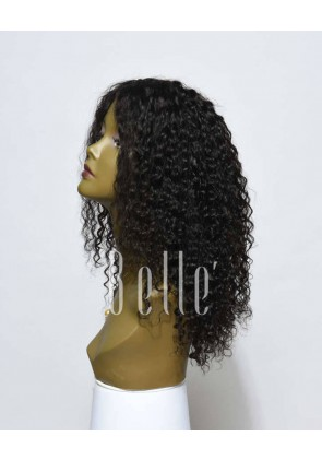 Silk Top Lace Front Wigs 100% Premium Mongolian Virgin Hair 10mm Curl