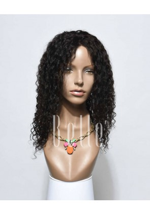Swiss Lace Front Wigs 100% Premium Indian Remy Hair 10mm Curl