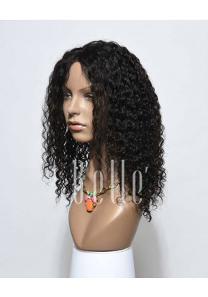 Durable Full Lace Wigs 100% Best Peruvian Virgin Hair 10mm Curl