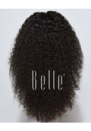 Glueless Full Lace Wigs Indian Remy Hair 10mm Curl