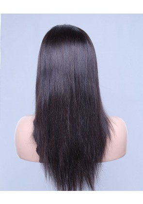 Silky Straight 100% Best Brazilian Virgin Hair Lace Front Wig In Stock