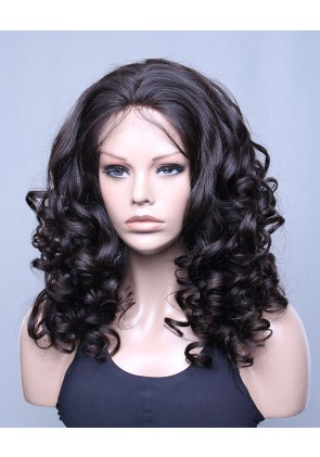 Most Popular Brazilian Virgin Hair Lace Front Wig Beyonce Wave Natural Black