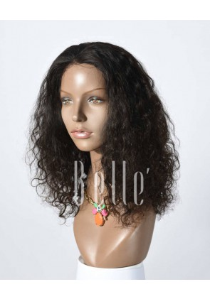 100% Premium Indian Virgin Hair Full Lace Wig 25mm Curl