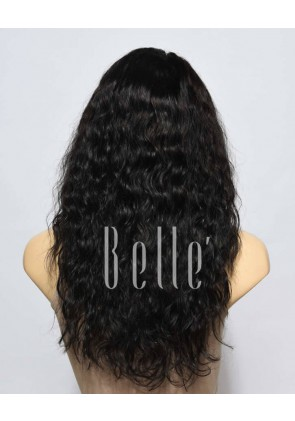 100% Premium Brazilian Virgin Hair Silk Top Full Lace Wig 25mm Curl