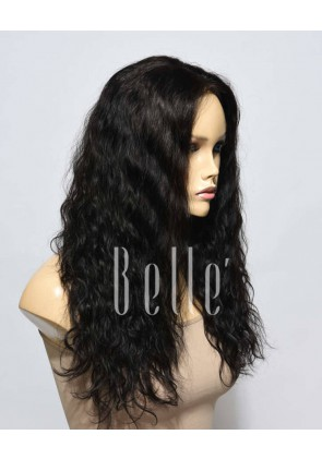 25mm Curl 100% Premium Malaysian Virgin Hair Full Lace Wig