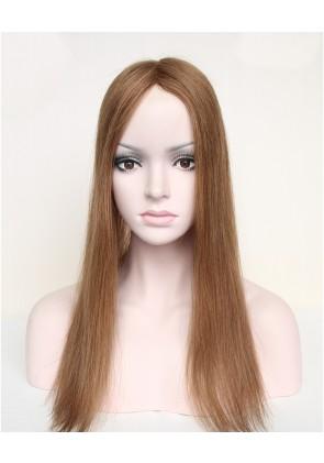 100% Human Hair Natural Looking Mono Topper