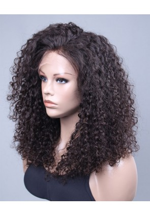 10mm Curl Swiss Lace Front Wigs 100% Premium Brazilian Virgin Hair