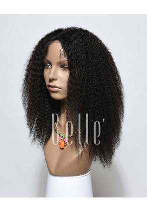 High Quality African American Wig Indian Virgin Hair Lace Front Wig Afro Curl