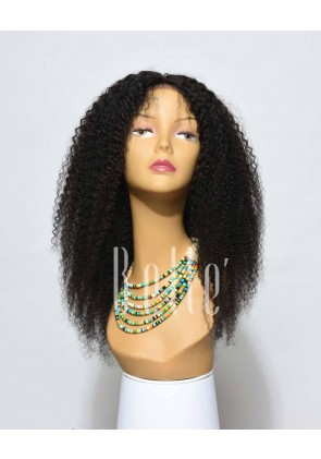 High Quality African American Wig Indian Virgin Hair Full Lace Wig Afro Curl