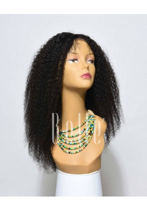 High Quality African American Favourite hairstyle Mongolian Virgin Hair Full Lace Wig Afro Curl