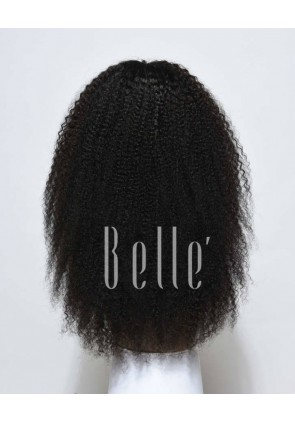 Glueless Full Lace Wigs Indian Remy Hair Afro Curl