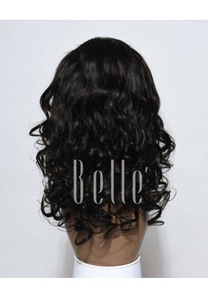 "Most Popular Indian Virgin Hair 4""x4"" Silk Top Lace Front Wig Beyonce Wave"