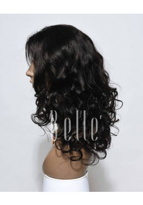 Beyonce Wave Most Popular Hairstyle Peruvian Virgin Hair Silk Top Lace Front Wig