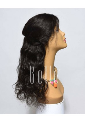 100% Premium Mongolian Virgin Hair Full Lace Wig Brazilian Wave In Stock