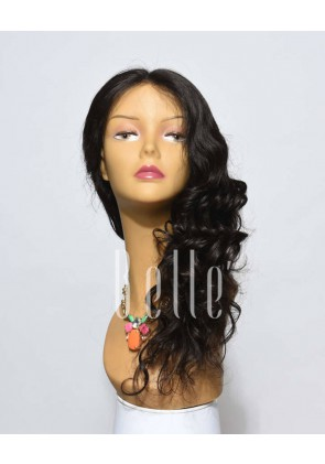 100% Premium Indian Virgin Hair Full Lace Wig Brazilian Wave In Stock
