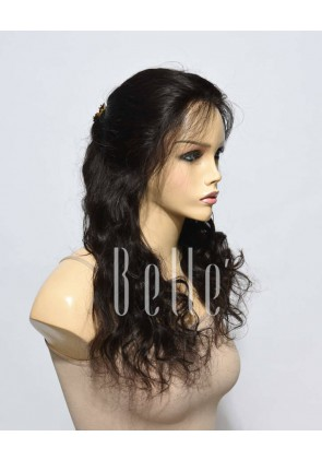 100% Real Human Hair Peruvian Virgin Hair Full Lace Wig Beyonce Wave