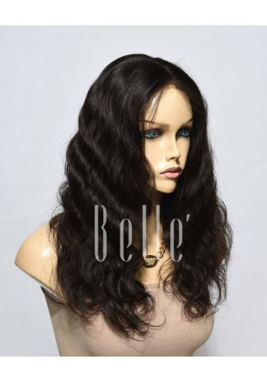 100% Premium Mongolian Virgin Hair Silk Top Lace Front Wig Body Wave In Stock
