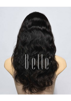 100% Premium Indian Remy Hair Silk Top Lace Front Wig Body Wave In Stock