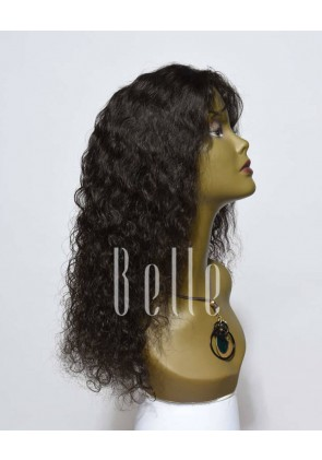 "Brazilian Curl 100% Brazilian Virgin Hair 4""x 4"" Silk Top Lace Front Wig"