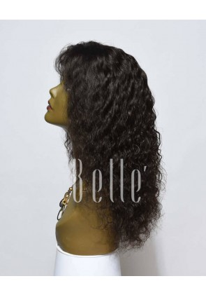 100% Human Hair Indian Virgin Hair Silk Top Lace Front Wig Brazilian Curl Hot-selling