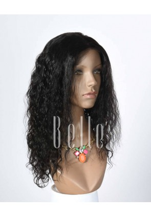 Brazilian Curl 100% Human Hair Peruvian Virgin Hair Silk Top Lace Front Wig Hot-selling