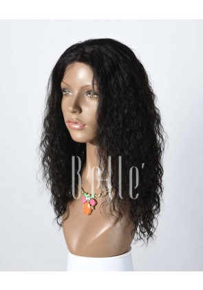 100% Human Hair Mongolian Virgin Hair Lace Front Wig Brazilian Curl Hot-selling